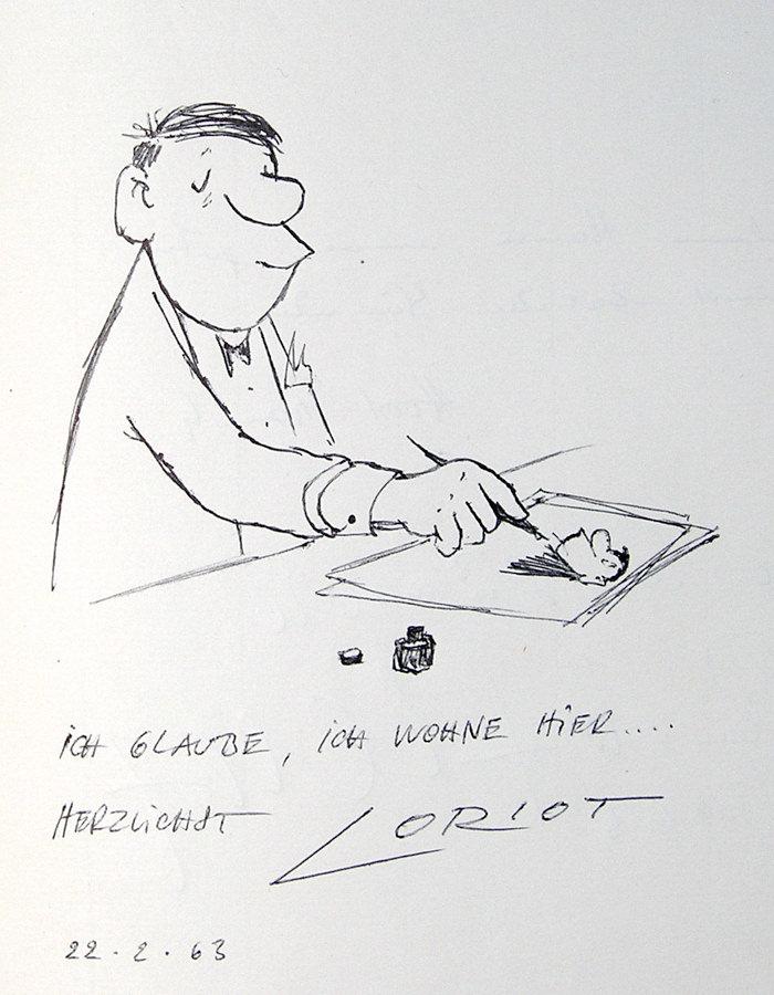 Loriot im Café Luitpold, 1963 Luitpoldblock
