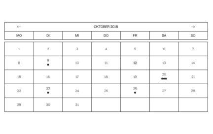 Luitpoldblock, Kalender