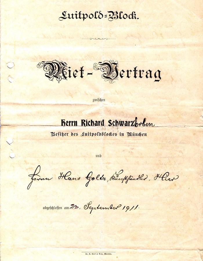 Verträge Goltz, 1911/1904